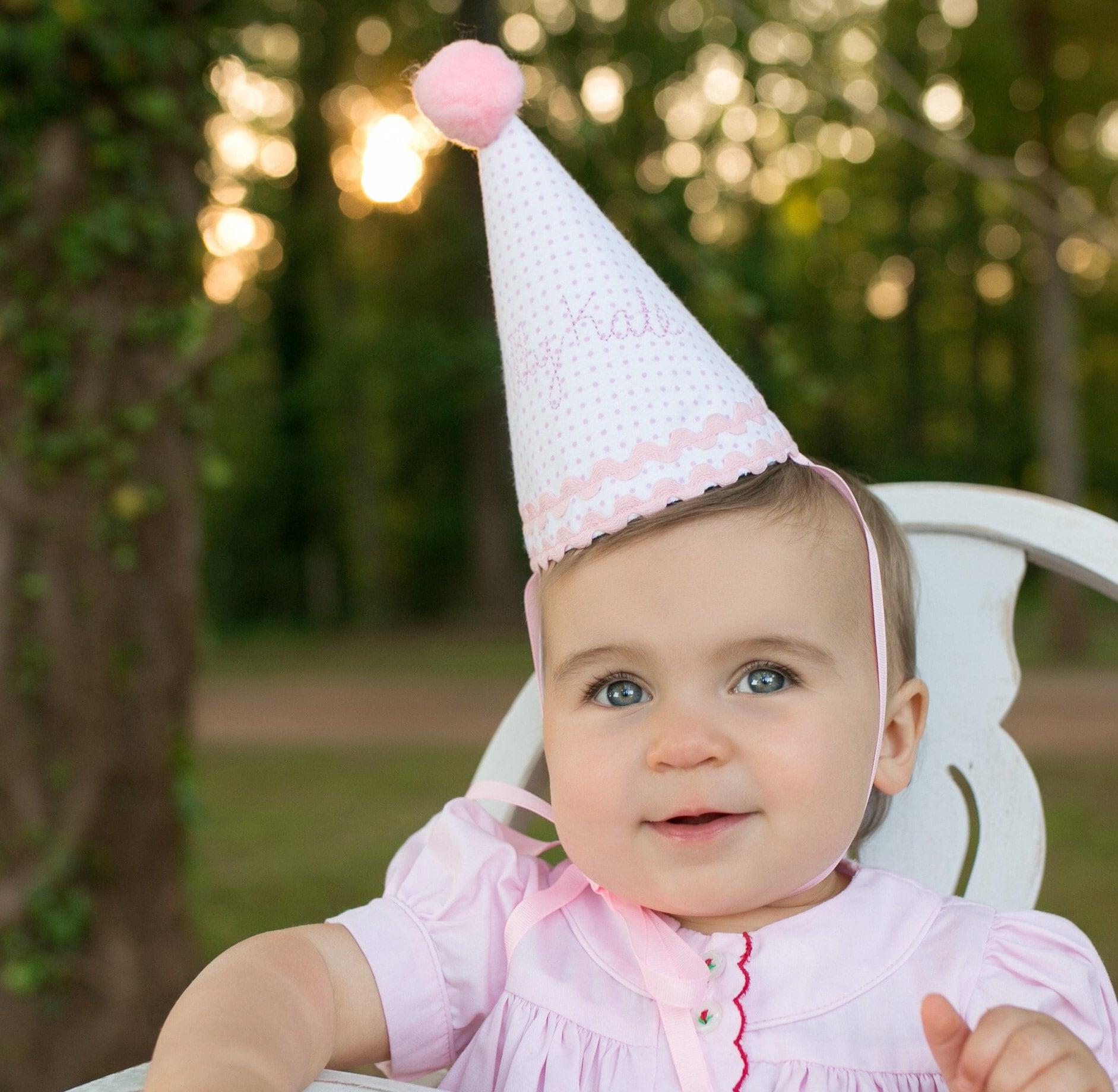 Handmade Girls/' 1st Birthday Party Hat
