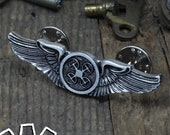 Drone Pilot Wings - UAV Operator Wings - 2 Inches Wide - Steampunk Pilot Wings - Doctor Gus Handcrafted Accessories Badge RPG Insignia LARP