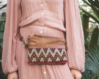 Leather Belt Bag. Boho Bag. Festival Fanny Pack. Leather Bum Bag. Leather Hip Bag. Leather Waist Bag. Kilim Bag. Carpet Bag. Hippie Bag.