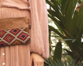 Festival Fanny Pack. Leather Belt Bag. Leather Bum Bag. Leather Hip Bag. Boho Bag. Leather Waist Bag. Kilim Bag. Carpet Bag. Hippie Bag.
