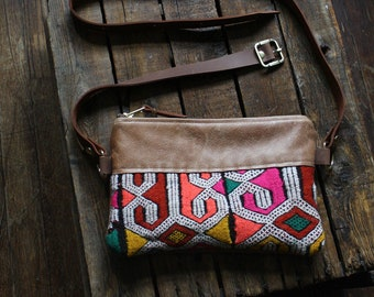 Fanny Pack. Leather Belt Bag. Boho Bag. Leather Bum Bag. Leather Hip Bag. Leather Waist Bag. Kilim Bag. Carpet Bag. Hippie Bag.