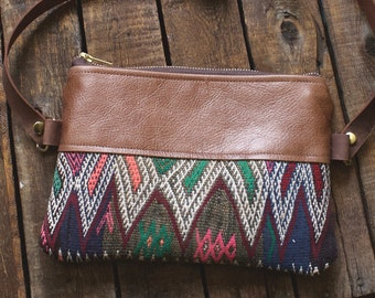 Leather Fanny Pack. Hippie Bag. Kilim Bag. Leather Bum Bag. Leather Belt Bag. Festival Fanny Pack.Boho Bag. Leather Waist Bag. Carpet Bag