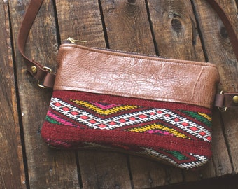 Hippie Bag. Kilim Bag. Leather Bum Bag. Leather Belt Bag. Festival Fanny Pack. Leather Hip Bag. Boho Bag. Leather Waist Bag. Carpet Bag