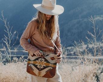 Women's Crossbody Bag, Medium Crossbody, Everyday Bag, Boho Bag, Slouchy Bag, Hipster Crossbody, Ethnic Bag, Southwestern Bag