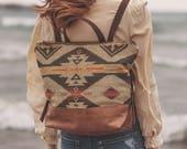 Boho Backpack,  Stylish Laptop Bag, Backpack Diaper Bag, Hipster Backpack, Laptop Backpack, Leather Backpack, Everyday Bag, Women's Backpack