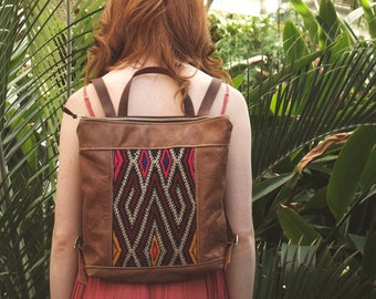 Leather Backpack. Travel Backpack. Boho Backpack. Leather Bag. Kilim Bag. Laptop Backpack. Boho Bag. Women's Backpack. Rucksak.
