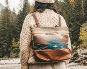 Boho Backpack, Backpack Diaper Bag, Hipster Backpack, Laptop Backpack, Stylish Laptop Bag, Leather Backpack, Everyday Bag, Women's Backpack