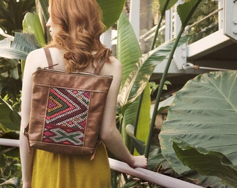 Leather Backpack. Travel Backpack.Boho Backpack.Leather Bag. Kilim Bag. Laptop Backpack. Boho Bag. Women's Backpack. Rucksak.