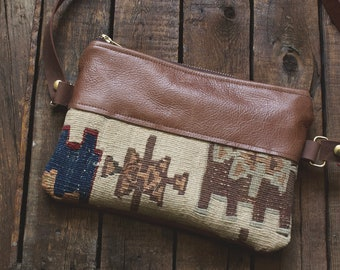 Leather Bum Bag. Leather Belt Bag. Festival Fanny Pack. Leather Hip Bag. Boho Bag. Leather Waist Bag. Kilim Bag. Carpet Bag. Hippie Bag.