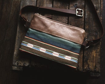 Fanny Pack. Leather Belt Bag. Festival Fanny Pack. Leather Bum Bag. Leather Hip Bag. Leather Waist Bag. Serape Bag. Southwestern Bag.