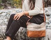 Small Leather Crossbody, Small Boho Bag, Southwestern Bag, Light Crossbody, Small Shoulder Bag, Everyday Bag, Bag for Teen Girl