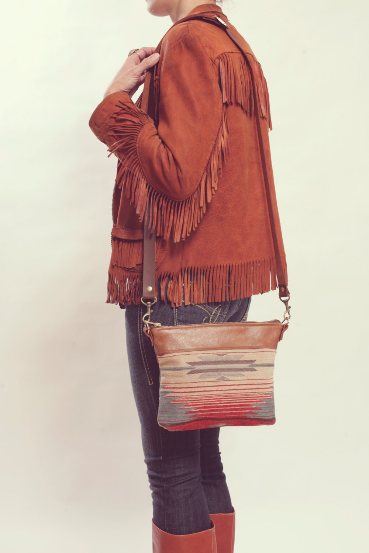 ff37dc3952 Small Leather Crossbody Small Boho Purse Southwestern Bag