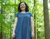 short sleeve smock dress -- made to order