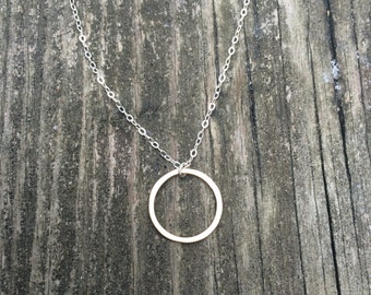 Small Eternal Circle Necklace