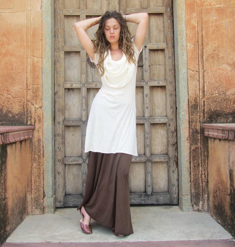 organic tissue cotton organic cotton dress ORGANIC Super Cowl Simplicity Short Dress