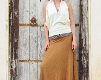 ORGANIC Vinyassa Long Skirt - ( organic tissue cotton ) - organic cotton skirt