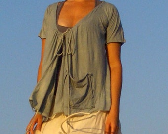 Vinyasa Wrap T (local organic tissue cotton)