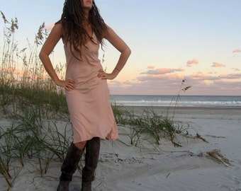 Organic Slip Simplicity Short Dress (organic tissue cotton) - organic dress