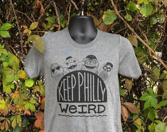 Philadelphia mascots tshirt, Keep Philly Weird tshirt by exit343design