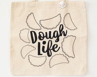 pierogi tote bag, dough life bag, Pittsburgh gift