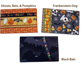 Halloween Quilted Postcards, Cute Fabric Postcards