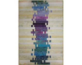 Art Quilt, Fabric Wall Hanging, Modern Batik Quilt, Fiber Art