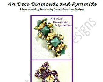Bracelet Tutorial for 12mm Pyramid Beads, DiamonDuos, and MiniDuos
