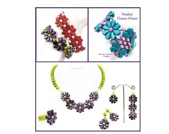 Jewelry Tutorial with GemDuos and Paisley Duos, 2 Bracelets, Necklace, Earrings, and Ring, DiamonDuos, Zoliduos