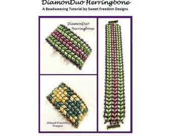 Herringbone Tutorial for DiamonDuo or GemDuo Beaded Bracelets