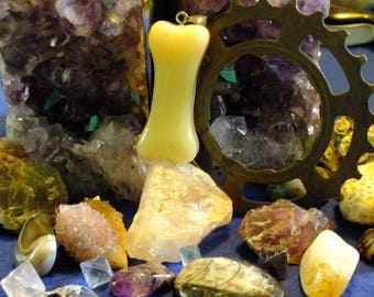 Glow in the Dark Bone Pendant