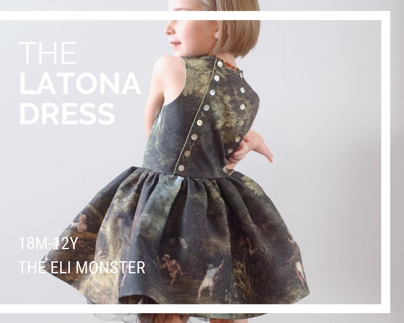 Child Dress Sewing Pattern The Latona Dress 18m-12y image 0
