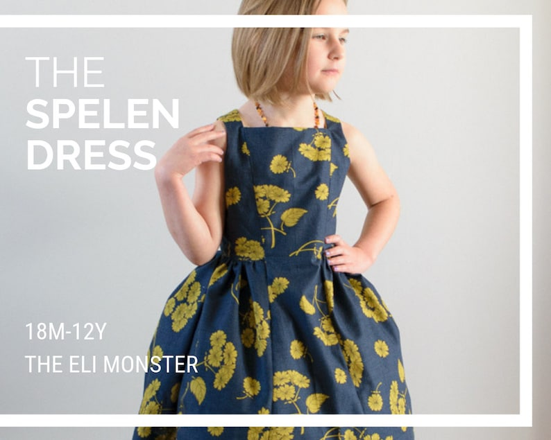 The Spelen Dress PDF Sewing Pattern / Vintage Sewing Pattern / image 0