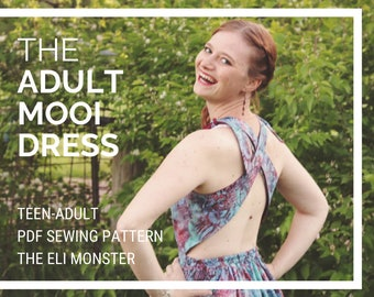 SunDress PDF Sewing Pattern, The Mooi Dress Sized Teen-Misses