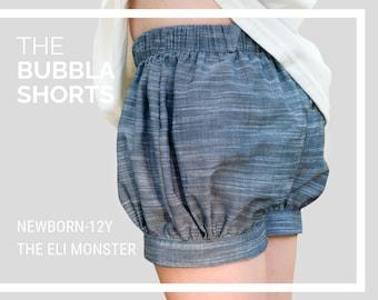 The Bubbla Shorts PDF Sewing Pattern, NB-12Y