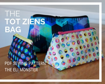 Dopp Kit Toiletry Bag Sewing Pattern, The Tot Ziens Bag