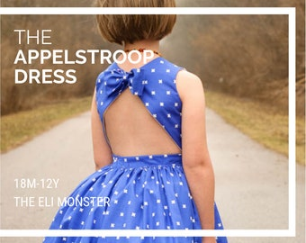 Girl Dress PDF Sewing Pattern, The Appelstroop Dress Sized 18mo to 12y