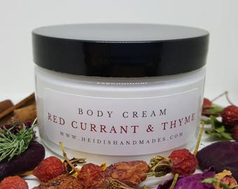 Red Currant and Thyme Body Cream - Hand and Body Cream - Red Currant Lotion