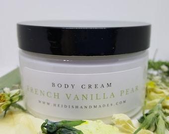 French Vanilla Pear - Moisturizing Body Cream - Hand and Body Cream - French Vanilla Pear Lotion