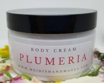 Plumeria Body Cream - Plumeria Moisturizing Cream - Plumeria Lotion - For Plumeria Lovers