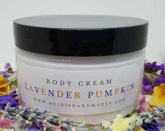 Lavender Pumpkin Body Cream - Lavender Pumpkin Cream - Lavender Pumpkin Lotion - Pumpkin Pie Lavender Cream - Pumpkin and Lavender Lotion