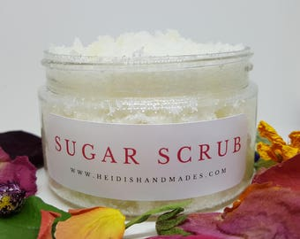 Sugar Scrub - Choose Your Scent - Natural Sugar Scrub - Natural Exfoliating Scrub