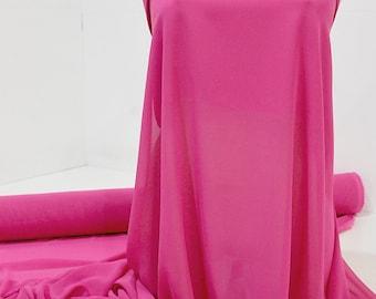 hi multi chiffon stof fuchsia heldere 1229 60 breed verkocht door de werf formele optocht bruidsmeisjes togas decor gordijnen