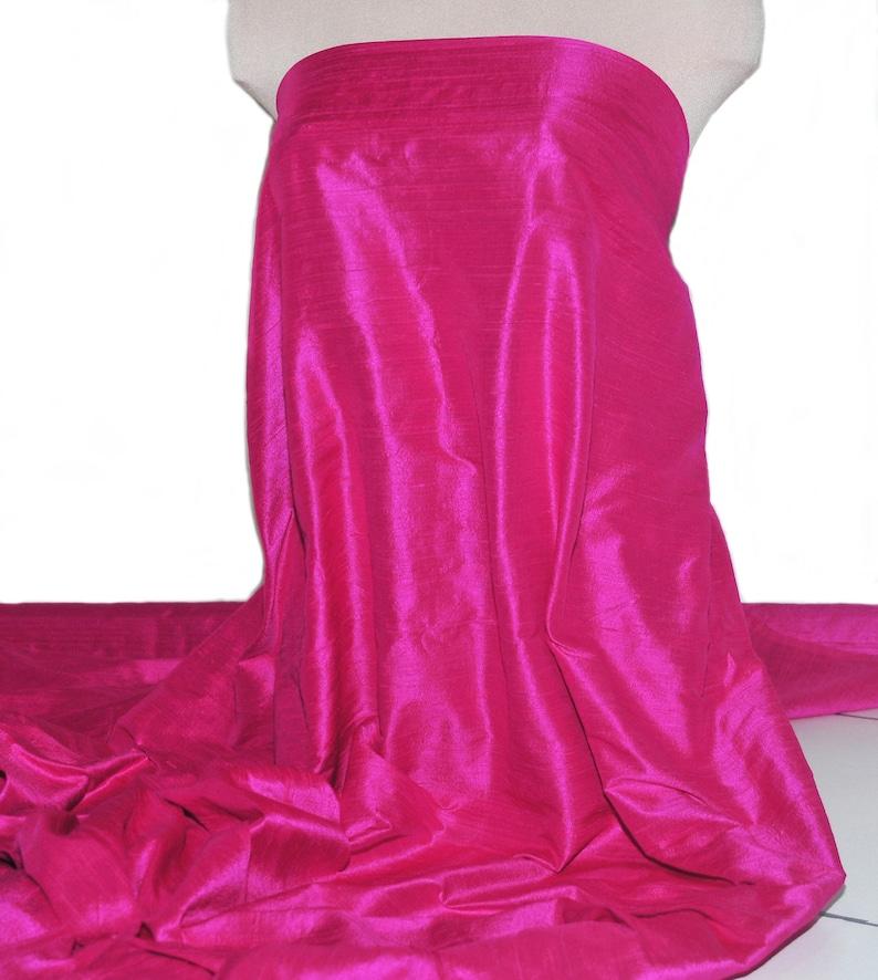 flowers 100/% silk Dupioni fabric formal wear bridesmaid dress crafts holiday crafts pageant hot pink 148 . wedding