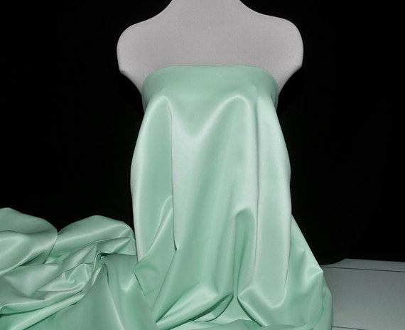 """SATINY Blue//green dressy type Fabric  Doll Dresses 45/"""" W Sold by the 1//2 YARD"""