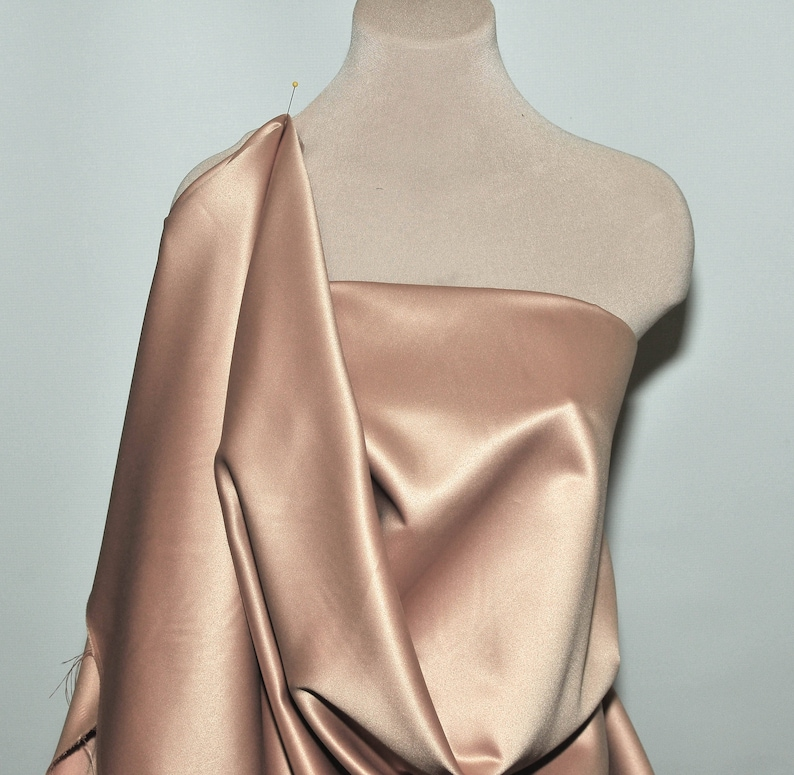 bridal Heavy Matte Satin..China Rose   60 wide. pageant suits poly.. formal home decor..wedding...crafts..doll clothing