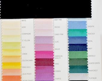 "Acetate Taffeta Fabric  45"" wide choice of colors..lining..dresses...wedding...formal ...home decor"