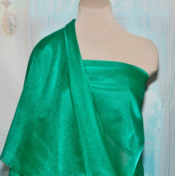 "FORMAL IRIDESCENT ORGANZA POLY FABRIC EMERALD  GREEN   58/"" PAGEANT DRESSES"