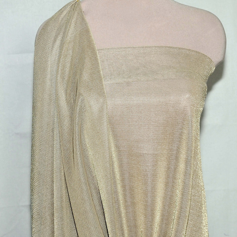 KNIT STRETCH FABRIC NUDE GLITTERED BTY FORMAL WEAR DANCE SKATING