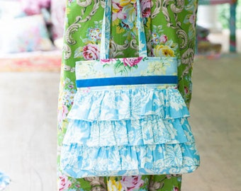 Sis Boom Rosetta Ruffle Bag with Scientific Seamstress Pattern and Instructions, PDF E-Book