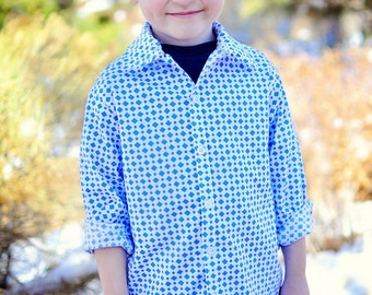 Sis Boom Ethan Boy's Button-Up shirt PDF Sewing Pattern - with Scientific Seamstress